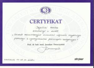 certyfikat acl