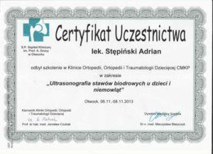 certyfikat bioderka dzieciece