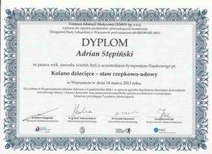 certyfikat dyplom z sru