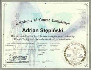 certyfikat kinesio