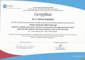 certyfikat mikrochirurgia