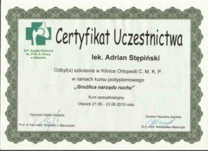 certyfikat otwock