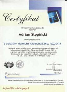 certyfikat radiolog