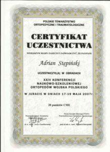 certyfikat wojsko
