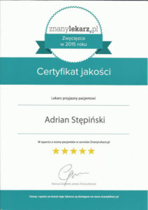 certyfikat znanylekarz
